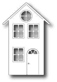 Village House Memory Box Die Item 98594 Retired Great for cards HTF Putz Houses, Village Houses, House Template, Memory Box Dies, Cardboard Paper, Glitter Houses, Ceramic Houses, Paper Houses, Christmas Printables