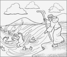 Pillar of Fire and Cloud coloring page from Exodus