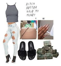 """""""Untitled #98"""" by lamiaharrison ❤ liked on Polyvore featuring Estradeur and Puma"""