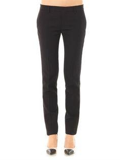 Saint Laurent Satin-stripe wool trousers