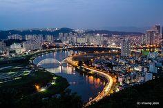 Taehwa river. Ulsan, South Korea