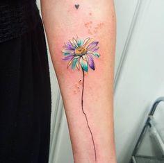 Esta aquarela daisy