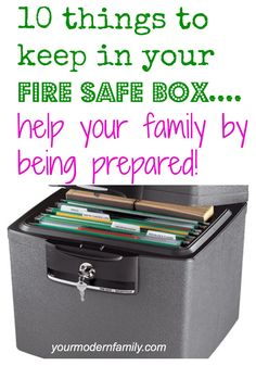 Do you have a fire safe box?   Read this to find out what you need to keep in it for your family!   10 must-have items!