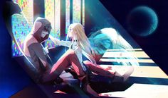 Angel of Slaughter 殺戮の天使 (Massacre Angel) (Satsuriku no Tenshi) 君が笑うまで #Anime #Manga #Game Fanart Ray (Rachel) and Zack (Isaac)