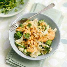 entulinea.es: Receta de entulínea - Pasta con salsa de verduras y piñones
