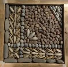 dry laying a small section of the pavement to try out the scale, size and look of the pebbles against the design. #olicanamosaics #mosaics