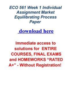 market equilibrating process