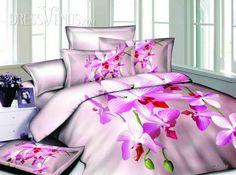 US$117.99 Comfortable Pink 4 Piece Florals Print Cotton Bedding Sets. #Bedding #Sets #Pink #Print