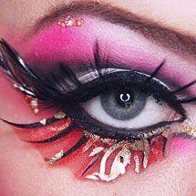 Maquiagem artística rosada