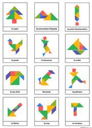 Tangrams to print - Lulu the mole, free games for kids Ce fantastic return on Montessori Activities, Preschool Math, Learning Activities, Activities For Kids, Art For Kids, Crafts For Kids, Tangram Puzzles, Busy Boxes, Learning Shapes