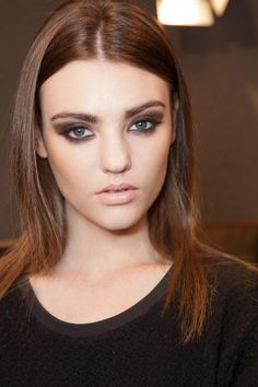smokey eyes #beauty #makeup #brunette #hair