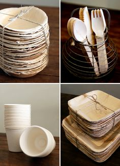 Beautiful Bio Table Ware & Eco friendly palm leaf plates and wooden cutlery. Photo By Mandy ...