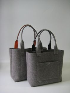 Tote Purse, Diy Tote Bag, Felt Sheets, Diy Fashion Accessories, Shopper, Felt Toys, Simple Bags, Sewing Stitches, Wool Felt