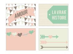 Free Amour Journal Cards {available in both Silhouette and PDF format} from coeur de beurre