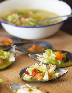 Cómo preparar mejillones al vapor con salsa vinagreta con Thermomix « Trucos de cocina Thermomix