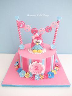 Owl Birthday Cakes 2nd Cake Girl Ideas Pink