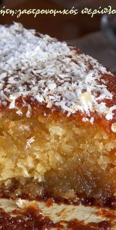 Ginger cake is common street food in Sierra Leone and this sweet treat makes for a lovely dessert too! Greek Sweets, Greek Desserts, Greek Recipes, Vegan Desserts, Delicious Desserts, Vegan Dinners, Cooking Cake, Cooking Recipes, Candy Recipes