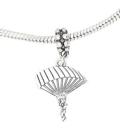 49% Off was $46.99, now is $23.80! Sterling Silver Parachute Para Sailer Dangle Bead Charm