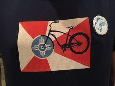 Bicycle themed T-Shirt Indian Symbols, Kansas, Bicycle, Flag, Stitch, Shirt, Design, Bike, Full Stop