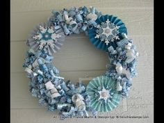 Stamp & Scrap with Frenchie: Winter Curly Paper Wreath Video. Love this, so pretty Stampin Up Christmas, Noel Christmas, Christmas Projects, All Things Christmas, Christmas Wreaths, Christmas Decorations, Wreath Crafts, Paper Crafts, Paper Wreaths