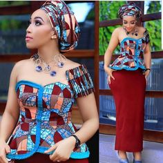 Beautiful Ankara Aso Ebi collection To Wow This Season. The African fashion style is unique and anyo. Latest African Fashion Dresses, African Print Dresses, African Print Fashion, Africa Fashion, Ankara Fashion, African Prints, African Attire, African Wear, African Women