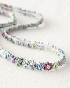 necklace, linen -  sophie digard ss14   lili et nene