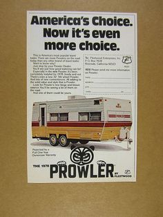 Old Prowler Travel Trailers Travel Trailers Gt 1984