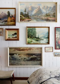 gallery wall - this would be nice to begin collecting in addition to our maps! displayed together, magic!