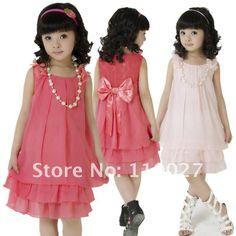 20d966d7811b New 2014 baby dresses girl summer dress princess big butterfly chiffon  frocks lace dress necklace vest