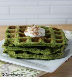 Spinach banana waffles