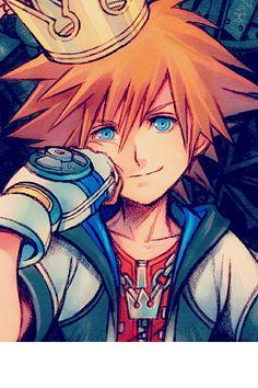 Kingdom Hearts - All hail King Sora Kingdom Hearts Fanart, Sora Kingdom Hearts, Kingdom Hearts Crown, Kingdom Hearts Characters, Manga Anime, Anime Art, Manga Girl, Anime Boys, Final Fantasy