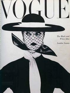 Vogue: The black and white issue June 1950. The model is Lisa Fonssagrives, the first supermodel... photograph by Irving Penn, her second husband!