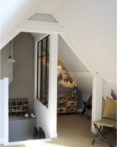 5 Amazing and Unique Tricks: Tiny Attic Kids attic floor cottages.Attic Makeover Home Theaters attic entrance master bedrooms.Old Attic Sleep. Houses In France, Home, Renovations, Attic Renovation, Loft Staircase, House, Beautiful Houses Interior, Industrial House, House Interior