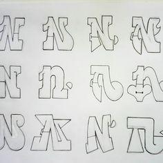 (Bad ones, sorry 😢) Grafitti Letters, Graffiti Alphabet Styles, Graffiti Lettering Alphabet, Tattoo Fonts Alphabet, Graffiti Words, Graffiti Writing, Doodle Lettering, Lettering Design, Graffiti Artists