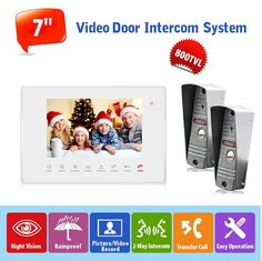 "197.46$  Buy now - http://alibq7.shopchina.info/go.php?t=32795169109 - ""Russian Video Doorphone Intercom System 2pcs 800TVL IR Night Vision Waterproof Camera 1pc 7"""" LCD Monitor Support 32G SD Card ""  #magazineonlinebeautiful"