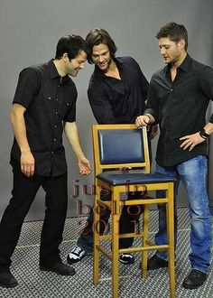 Misha, Jared, and Jensen ~ seriously - not a clue what they are doing - lol.