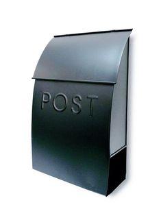 Milano Pointed Post Wall Mounted Mailbox