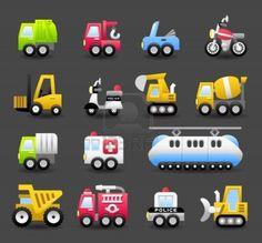 Image detail for -cartoon car,vehicle,machine,transportation icon set Stock Photo