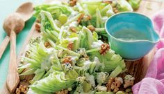 Classic waldorf salad with blue cheese