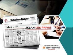 Pasang iklan baris Les Privat di koran Kedaulatan Rakyat Jogja, Kirim Materi Iklan ke 085643384005 (SMS/WA)