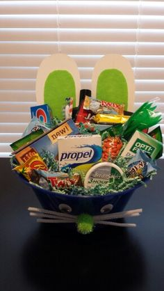 Movie night easter basket idea for teen or young adult via home gift basket ideas easter basket for young adults negle