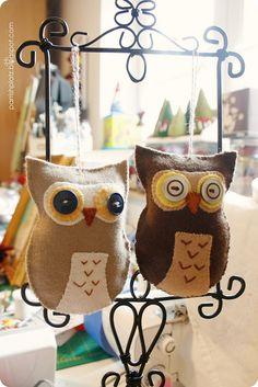 wool felt owl