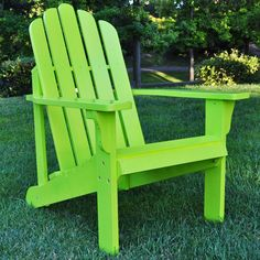 Marina Adirondack Chair in Lime Green - All Decked Out on Joss and Main