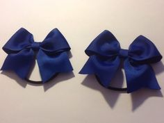 Madelienas Handmade. MY Simple Bow Hair Ties  COBALT BLUE /A Set