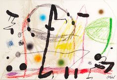 """Maravillas Acrosticas 13"" Rare Limited Edition Color Lithograph Signed in Plate by Joan Miro"