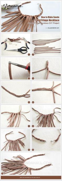 How to Make Suede Cord Fringe Necklace - Simple Fringe Necklace DIY Project from pandahall.com