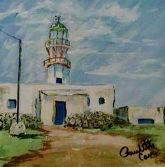 """I added """"Mykonos Lighthouse, Greece"""" to an #inlinkz linkup!https://www.facebook.com/PauletteCarrArtist/photos/a.901546836531593.1073741835.425248420828106/904631722889771/?type=3&theater"""