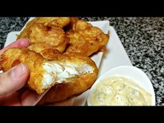 Today I am making crispy fried fish with a homemade lemon herb tartar sauce. This recipe is similar to a beer battered fish with out the beer. Fried Fish Recipes, Seafood Recipes, Dinner Recipes, New Cooking, Cooking Recipes, Mama Cooking, Cooking Ideas, Fish Batter Recipe, My Favorite Food