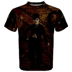 Charlie Chaplin  Now you can make a t-shirt that is completely and uniquely your own! Print your own designs on this fully customizable t-shirt that is perfect for everyday wear. Its breathable fabric also makes it suitable to wear when doing sports. The front, back, sleeves and even the neckline can be fully personalized by you to create the perfect t-shirt that you've always wanted.  Your designs will be printed on this high-quality T-shirt using high performance digital printing techno...