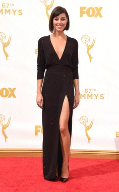 Aubrey Plaza from 2015 Emmys: Red Carpet Arrivals  In Alexandre Vauthier